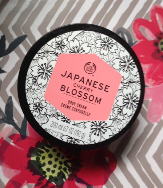 body shop japanese cherry blossom body butter review