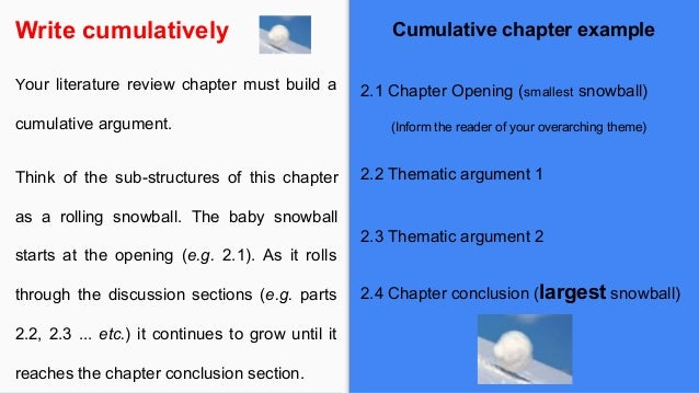 how to write a chapter review